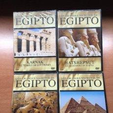 Cine: PACK 4 DVD'S EGIPTO (PRECINTADOS) MOMIA REINA HARSHEPSUT REY ESCORPIÓN PIRAMIDES GUIZA. Lote 137969858