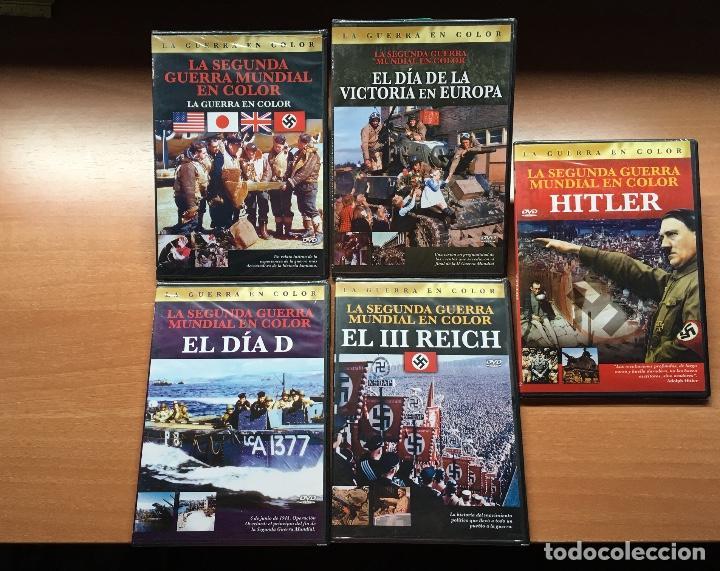 PACK 5 DVD'S 2ª GUERRA MUNDIAL (PRECINTADOS) HITLER REICH NAZIS ALEMANIA SS DIA D (Cine - Folletos de Mano - Documentales)