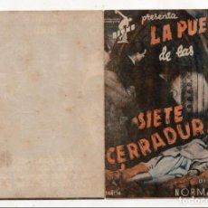 Cine: LA PUERTA DE LAS SIETE CERRADURAS. LESLIE BANKS, LILLI PALMER, ROMILLI LUNGE, GINA MALO, RICHARD BIR. Lote 138082274