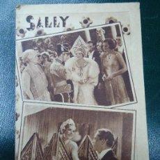 Cine: MUY RARO PELÍCULA CÓMICO MUSICAL SALLY - MARILYN MILLER - AÑO 1931 BIEN CONSERVADO VER FOTOS PUBLICI. Lote 138125582