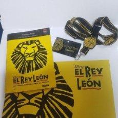 Cine: EL REY LEON, EL MUSICAL, BUTACA ORO. Lote 207159090
