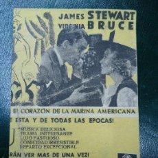 Cine: NACIDA PARA LA DANZA 1939 PUBLICIDAD CINE JOFRE DE FERROL ELEANOR POWELL, JAMES STEWART, VIRGINIA BR. Lote 138684418