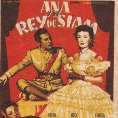 Cine: ANA Y EL REY DE SIAM (1946). Lote 138687414