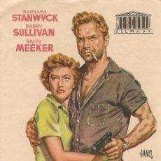 Cine: ASTUCIA DE MUJER (1953). Lote 138687662