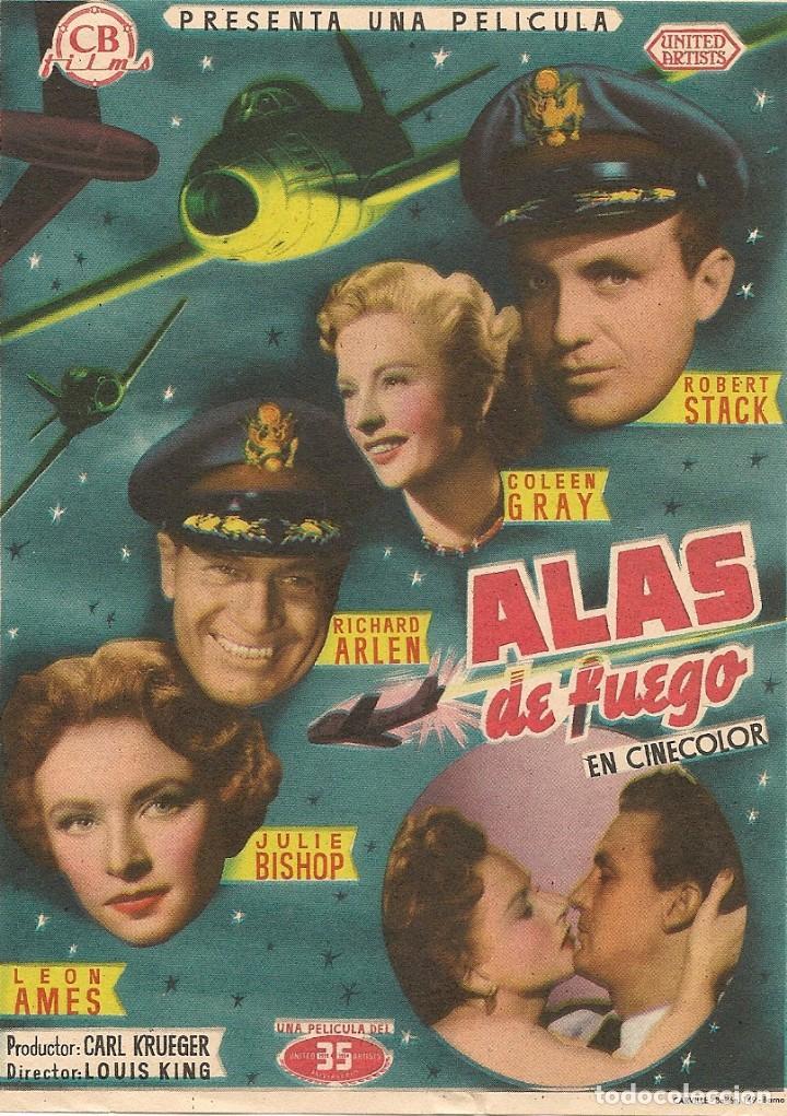 ALAS DE FUEGO // SABRE JET (1953) (Cine - Folletos de Mano - Bélicas)