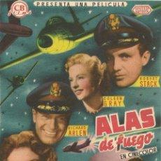 Cine: ALAS DE FUEGO // SABRE JET (1953). Lote 138687954