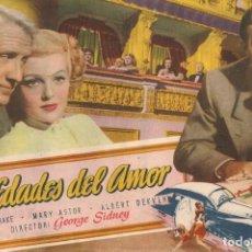 Cine: DOS EDADES DEL AMOR (1947). Lote 138689010