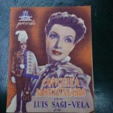Cine: EL ÚLTIMO HÚSAR 1939 CONCHITA MONTENEGRO Y LUIS SAGI - VELA CIFESA DIPTICO MUY BIEN CONSERVADO VER. Lote 138695970