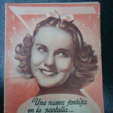 Cinema - MENTIROSILLA 1941 DIANA DURBIN Y HERBERT MARSHALL NUEVA UNIVERSAL DIPTICO MUY BIEN CONSERVADO Ver - 138696802