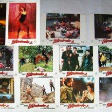 Flyers Publicitaires de films Anciens: EXTERMINADOR 2, DE MARK BUNTZMAN. 12 FOTOCROMOS. 1984.. Lote 215257573