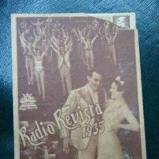 Cine: RADIO REVISTA 1935 PRECIOSO Y RARO FOLLETO DE MANO CIFESA DIPTICO BIEN CONSERVADO MUY RARO. Lote 138880818