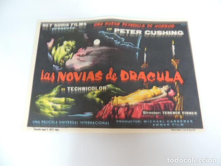 LAS NOVIAS DE DRACULA - FOLLETO MANO ORIGINAL - THE BRIDES OF DRACULA HAMMER FILM PETER CUSHING (Cine - Folletos de Mano - Terror)