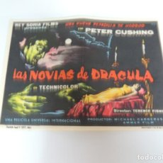 Cine: LAS NOVIAS DE DRACULA - FOLLETO MANO ORIGINAL - THE BRIDES OF DRACULA HAMMER FILM PETER CUSHING. Lote 138882138