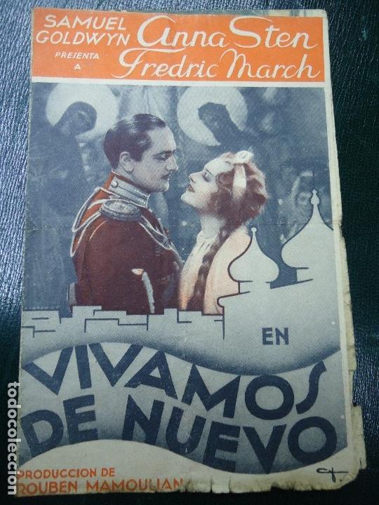 Cine: VIVAMOS DE NUEVO ESTRENO 10 DE MAYO DE 1936 ANNA STEN Y FRSDRIC MARCH PARAMOUNT RARO CON FECHA - Foto 2 - 138889922
