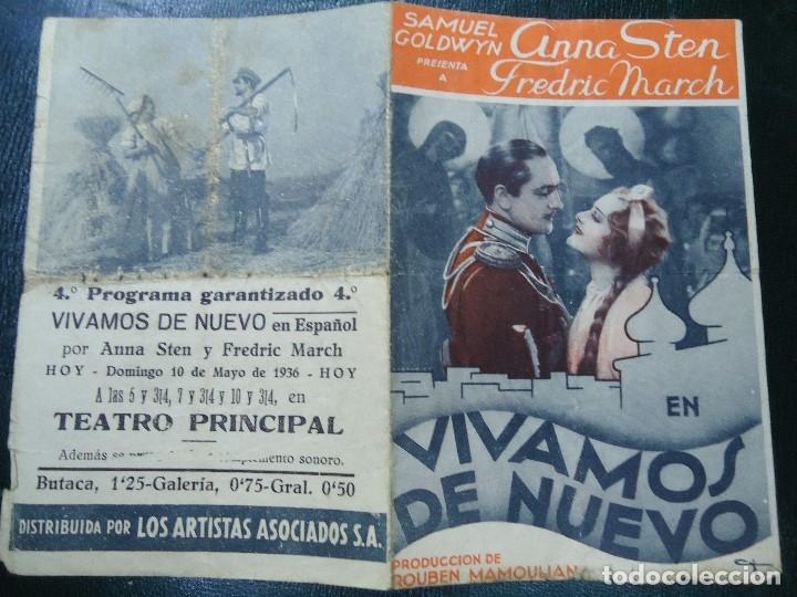 Cine: VIVAMOS DE NUEVO ESTRENO 10 DE MAYO DE 1936 ANNA STEN Y FRSDRIC MARCH PARAMOUNT RARO CON FECHA - Foto 4 - 138889922