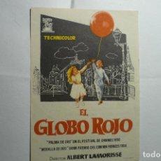 Cine: PROGRAMA EL GLOBO ROJO -PUBLICIDAD. Lote 138938878