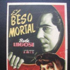 Cine: EL BESO MORTAL, BELA LUGOSI. Lote 138971114