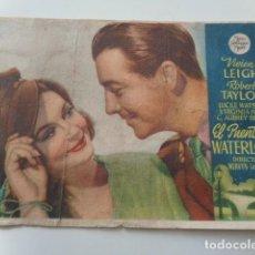 Cine: EL PUENTE DE WATERLOO. VIVIEN LEIGH Y ROBERT TAYLOR. CINEMA PISCINA LIRIA. VALENCIA. 1944. Lote 138982546