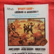 Cine: LA HORA DE LAS PISTOLAS, IMPECABLE SENCILLO, JAMES GARNER, CON PUBLI SELLO C. RECRE. VILLARRODONA . Lote 138988598
