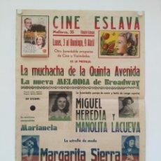 Cinema - la muchacha de la quinta avenida + melodia de broadway folleto original cine teatro eslava 62x42cm - 139045082