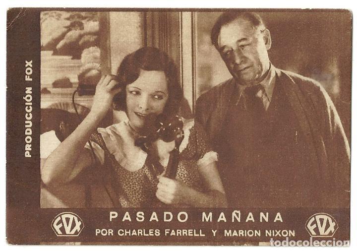 PTEB 038 PASADO MAÑANA PROGRAMA TARJETA FOX CHARLES FARRELL MARIAN NIXON E (Cine - Folletos de Mano - Drama)