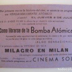 Cine: COMO LIBRASE DE LA BOMBA ATÓMICA. Lote 139067518