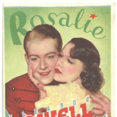 Cine: PTCC 024 ROSALIE PROGRAMA SENCILLO MGM ELEANOR POWELL NELSON EDDY. Lote 139094770