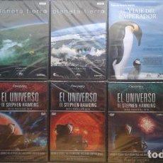 Cine: LOTE 17 DOCUMENTALES DE NATURALEZA Y COSMOLOGÍA DVD PRECINTADOS. Lote 139123794