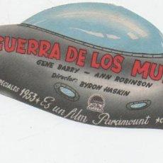 Cine: PROGRAMA DE CINE. LA GUERRA DE LOS MUNDOS SIN PUBLICIDAD. Lote 139210106