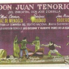 Cine: PTCC 026 DON JUAN TENORIO PROGRAMA SENCILLO CINE ESPAÑOL SALVADOR DALI LUIS ESCOBAR RARO. Lote 139450682