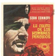 Cine: PTCC 026 LA COLINA DE LOS HOMBRES PERDIDOS PROGRAMA SENCILLO MGM SEAN CONNERY LUMET NO ESTRENADO. Lote 139454906