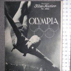 Cine: PROGRAMA OLYMPIA DE LENI RIEFENSTAL EN ALEMÁN MUY RARO - FEST DER SCHÖNHEIT. Lote 139473050