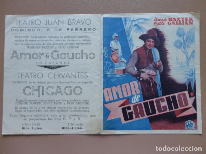 AMOR DE GAUCHO (Cine - Folletos de Mano - Suspense)