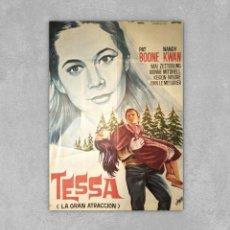 Cine: TESSA, LA GRAN ATRACCIÓN - PAT BOONE – DANIEL PETRIE 1.966 – 70×100. Lote 139533518
