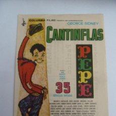 Cine: PEPE CANTINFLAS FOLLETO DE MANO ORIGINAL CINE IMPRESO PERFECTO ESTADO. Lote 139539374
