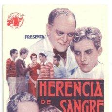 Cine: PTEB 039 HERENCIA DE SANGRE PROGRAMA TARJETA RIALBO GRANT MITCHELL LUCILLE POWERS. Lote 146410996