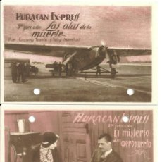 Cine: PTEB 039 HURACAN EXPRESS 3 PROGRAMAS TARJETA JORNADAS JOHN WAYNE CONWAY TEARLE TULLY MARSHALL. Lote 139569698