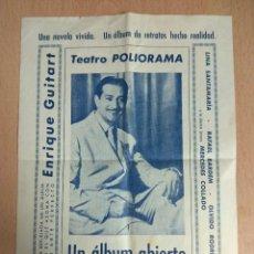 Cine: TEATRO POLIORAMA - PROGRAMA DE TEATRO DE LA OBRA UN ALBUM ABIERTO. Lote 139575122