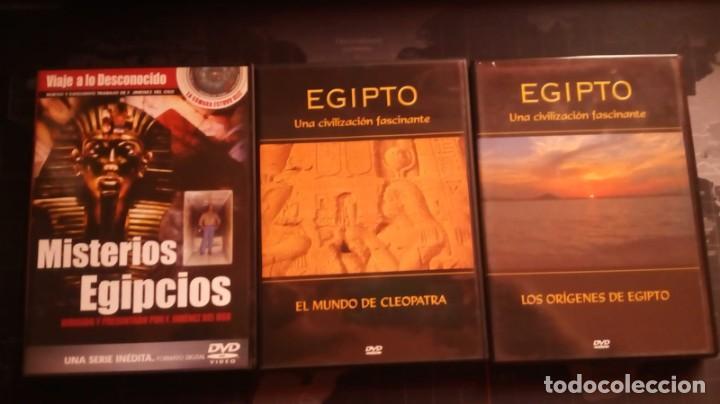 DVD EGIPTO UNA CIVILIZACION FASCINANTE,MISTERIOS EGIPCIOS,CLEOPATRA,EGIPTO,DOCUMENTAL (Cine - Folletos de Mano - Documentales)