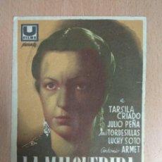 Cine: LA MALQUERIDA 1941 - PROGRAMA DE MANO FORMATO GRANDE CON PUBLICIDAD. Lote 139616858