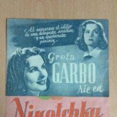 Cine: NIKOTCHA - 1942 PROGRAMA DE MANO DOBLE CON PUBLICIDAD. Lote 139619158