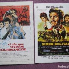 Cine: SIMON BOLIVAR Y EL AÑO QUE VIVIMOS PELIGROSAMENTE NUEVOS. Lote 139688702