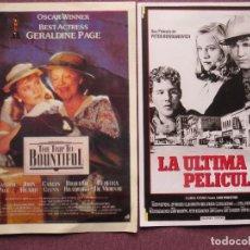 Cine: LA ULTIMA PELICULA Y REGRESO A BOUNTIFUL NUEVOS. Lote 139689322