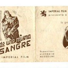 Cine: DE UNA MISMA SANGRE, CON AMADEO NAZZARI.. Lote 139742190