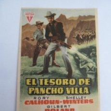 Cine: EL TESORO DE PANCHO VILLA FOLLETO DE MANO ORIGINAL PERFECTO ESTADO. Lote 139761366