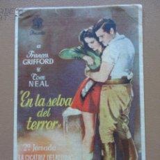Cine: EN LA SELVA DEL TERROR. Lote 139789462