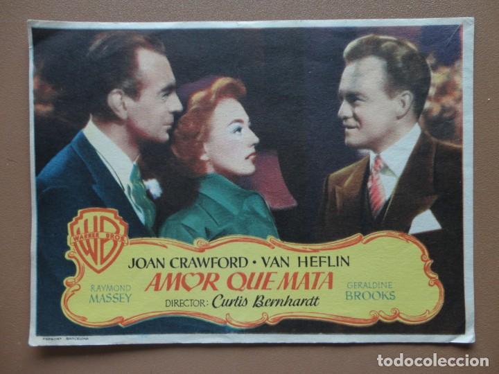 AMOR QUE MATA 1950 (Cine - Folletos de Mano - Suspense)