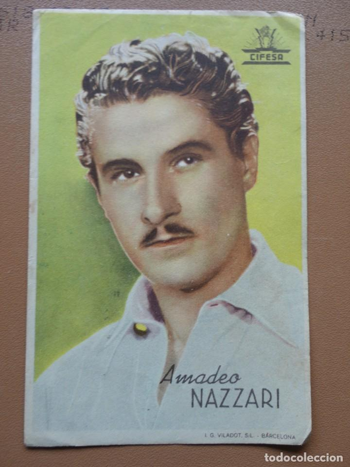 AMADEO NAZZARI (Cine - Folletos de Mano - Suspense)