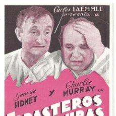 Cine: PTEB 040 FORASTEROS EN HONDURAS PROGRAMA DOBLE UNIVERSAL GEORGE SIDNEY CHARLIE MURRAY. Lote 139868082