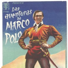Cine: PTEB 041 LAS AVENTURAS DE MARCO POLO PROGRAMA DOBLE TROQUELADO PROCINES GARY COOPER. Lote 139938698